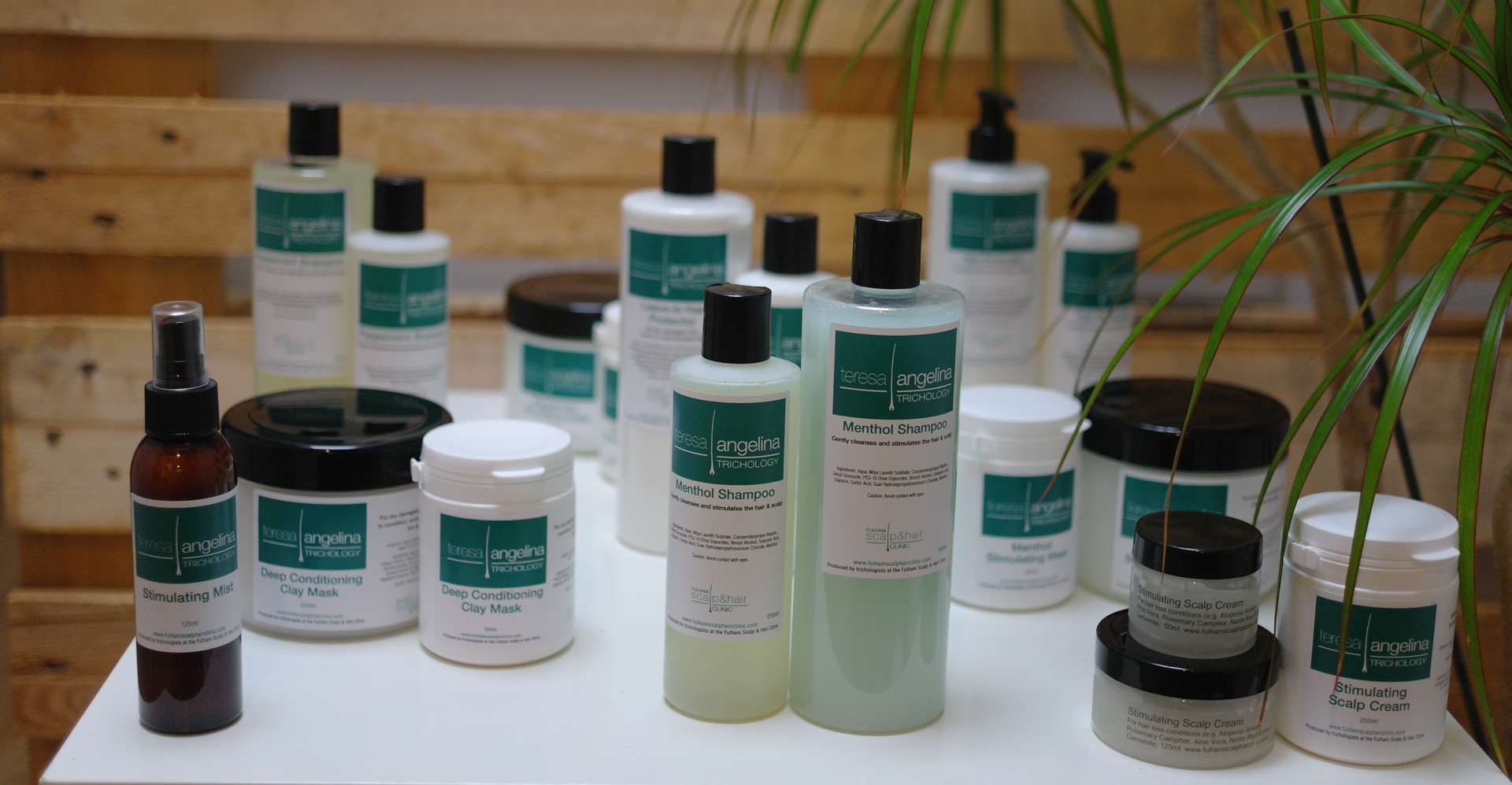 Fulham scalp and hair clinic products